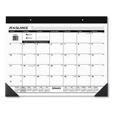 Monthly Refillable Desk Pad, 22 x 17, White, 2021