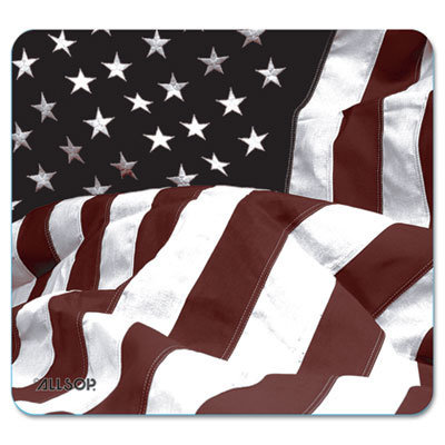 View larger image of Naturesmart Mouse Pad, American Flag Design, 8 1/2 x 8 x 1/10