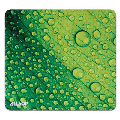 View larger image of Naturesmart Mouse Pad, Leaf Raindrop, 8 1/2 x 8 x 1/10