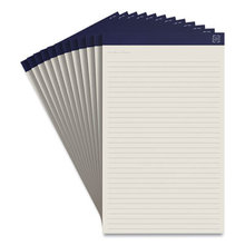 Notepads, Wide/Legal Rule, Ivory Sheets, 8.5 x 14, 50 Sheets, 12/Pack