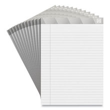 Notepads, Wide/Legal Rule, White Sheets, 8.5 x 11.75, 50 Sheets, 12/Pack