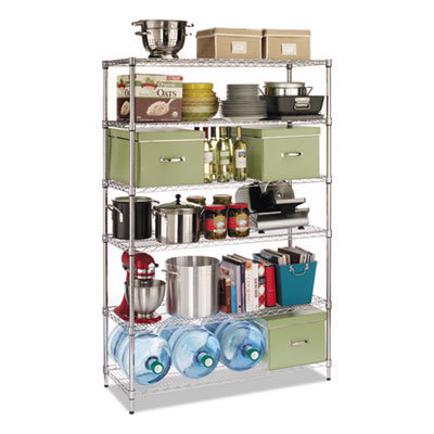 View larger image of NSF Certified 6-Shelf Wire Shelving Kit, 48w x 18d x 72h, Silver