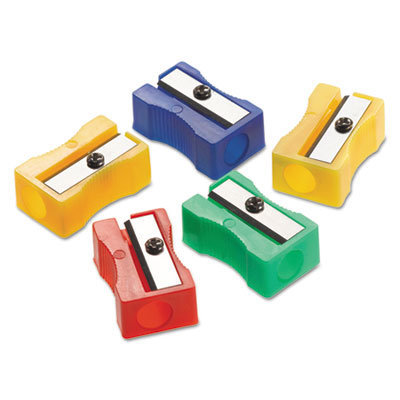 """View larger image of One-Hole Manual Pencil Sharpeners, 4"""" x 2"""" x 1"""", Assorted Colors, 24/Pack"""