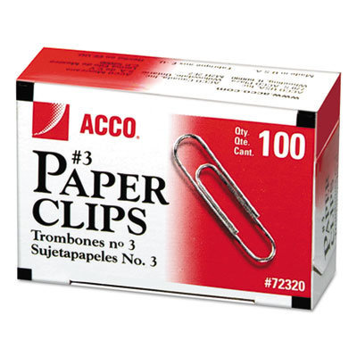 View larger image of Paper Clips, Small (No. 3), Silver, 1,000/Pack