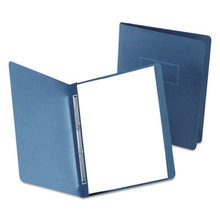 """Paper Report Cover, Large 2 Prong Fastener, Letter, 3"""" Capacity, Dk Blue, 25/Box"""