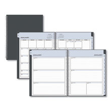 Passages Weekly/Monthly Wirebound Planner, 11 x 8.5, Charcoal, 2021