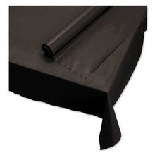 """Plastic Roll Tablecover, 40"""" x 100 ft, Black"""