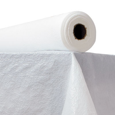 """View larger image of Plastic Table Cover, 40"""" x 300ft, White"""