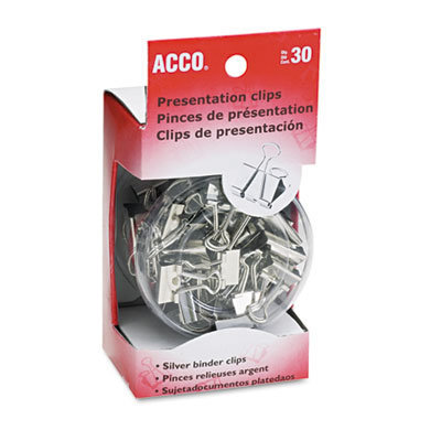 View larger image of Presentation Clips, Assorted Sizes, Silver, 30/Box