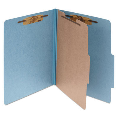 View larger image of Pressboard Classification Folders, 1 Divider, Legal Size, Sky Blue, 10/Box