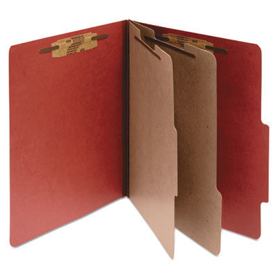 View larger image of Pressboard Classification Folders, 2 Dividers, Letter Size, Earth Red, 10/Box