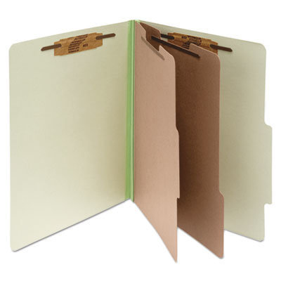 View larger image of Pressboard Classification Folders, 2 Dividers, Letter Size, Leaf Green, 10/Box