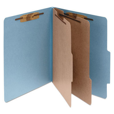 View larger image of Pressboard Classification Folders, 2 Dividers, Letter Size, Sky Blue, 10/Box