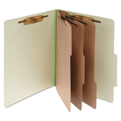 View larger image of Pressboard Classification Folders, 3 Dividers, Letter Size, Leaf Green, 10/Box