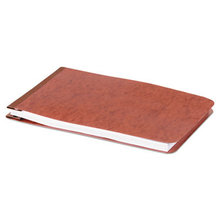 """Pressboard Report Cover With Tyvek Reinforced Hinge, Two-Piece Prong Fastener, 2"""" Capacity, 5.5 X 8.5, Red/red"""