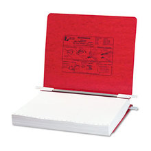 """PRESSTEX Covers with Storage Hooks, 2 Posts, 6"""" Capacity, 11 x 8.5, Executive Red"""