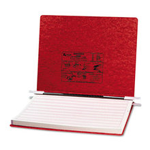 """PRESSTEX Covers with Storage Hooks, 2 Posts, 6"""" Capacity, 14.88 x 11, Executive Red"""