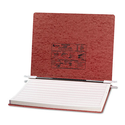 """View larger image of PRESSTEX Covers with Storage Hooks, 2 Posts, 6"""" Capacity, 14.88 x 11, Red"""