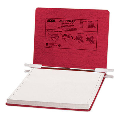 """View larger image of PRESSTEX Covers with Storage Hooks, 2 Posts, 6"""" Capacity, 9.5 x 11, Executive Red"""