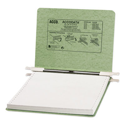 """View larger image of PRESSTEX Covers with Storage Hooks, 2 Posts, 6"""" Capacity, 9.5 x 11, Light Green"""