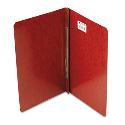 """View larger image of Presstex Report Cover, Side Bound, Prong Clip, Legal, 3"""" Cap, Red"""