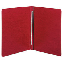 """Presstex Report Cover, Side Bound, Prong Clip, Letter, 3"""" Cap, Executive Red"""