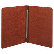"""Presstex Report Cover, Side Bound, Prong Clip, Letter, 3"""" Cap, Red"""