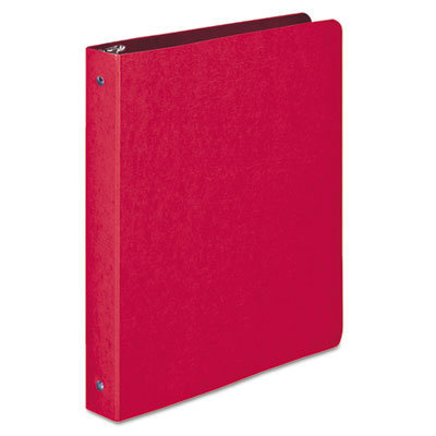 """View larger image of PRESSTEX Round Ring Binder, 3 Rings, 1"""" Capacity, 11 x 8.5, Executive Red"""