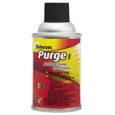View larger image of Purge I Metered Flying Insect Killer, 7.3 oz Aerosol, Unscented, 12/Carton
