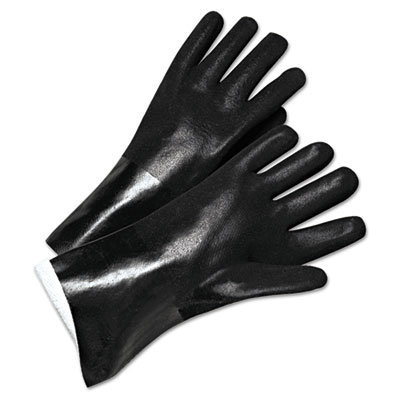 View larger image of PVC-Coated Jersey-Lined Gloves, 14 in. Long, Black, Men's
