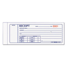 Receipt Book, Three-Part Carbonless, 7 X 2.75, 1/page, 50 Forms