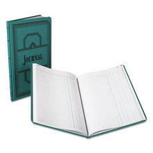 Record/Account Book, Journal Rule, Blue, 150 Pages, 12 1/8 x 7 5/8