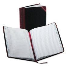 Record/Account Book, Record Rule, Black/Red, 150 Pages, 9 5/8 x 7 5/8