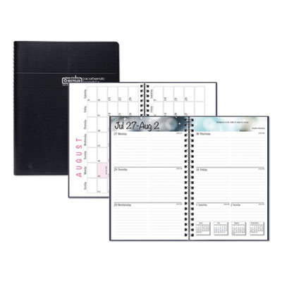 View larger image of Recycled Academic Weekly/Monthly Appointment Book/Planner, 8 x 5, Black, 2020-2021