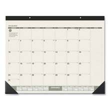 Recycled Monthly Desk Pad, 22 x 17, 2021