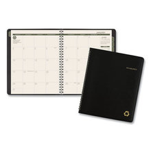 Recycled Monthly Planner, 8.75 x 7, Black, 2021