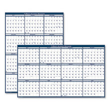 Recycled Poster Style Reversible Academic Yearly Calendar, 24 x 37, 2020-2021