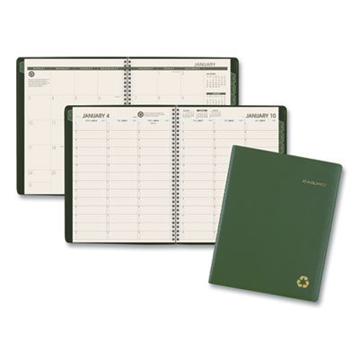 View larger image of Recycled Weekly/Monthly Classic Appointment Book, 11 x 8.25, Green, 2021