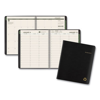 View larger image of Recycled Weekly/Monthly Classic Appointment Book, 8.75 x 7, Black, 2020