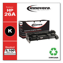 Remanufactured Black Toner, Replacement for HP 26A (CF226A), 3,100 Page-Yield
