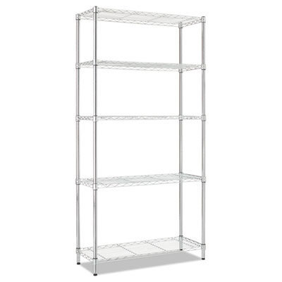 View larger image of Residential Wire Shelving, Five-Shelf, 36w x 14d x 72h, Silver