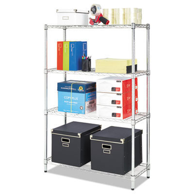 View larger image of Residential Wire Shelving, Four-Shelf, 36w x 14d x 54h, Silver