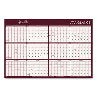 View larger image of Reversible Horizontal Erasable Wall Planner, 48 x 32, 2021