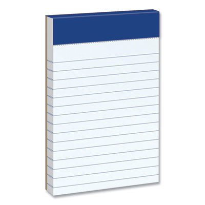 View larger image of Ruled Writing Pad, Narrow Rule, 3 x 5, 50 White Sheets, 3/Pack