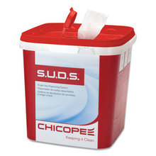 S.U.D.S Bucket with Lid, 7.5 x 7.5 x 8, Red/White, 3/Carton