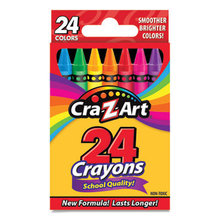 School Quality Crayon, Assorted Colors, 24/Box