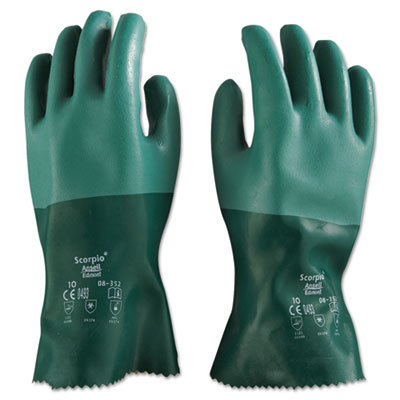 View larger image of Scorpio Neoprene Gloves, Green, Size 10, 12 Pairs