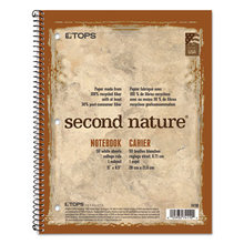 Second Nature Single Subject Wirebound Notebooks, Medium/College Rule, Randomly Assorted Color Covers, 11 x 8.5, 80 Sheets