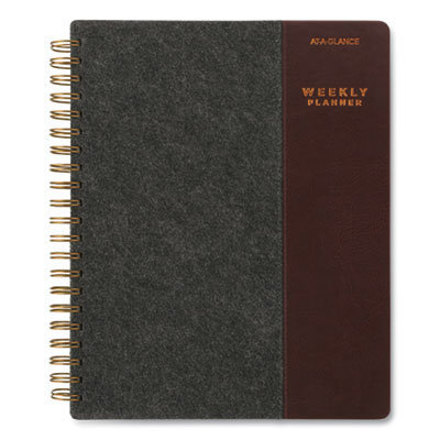 View larger image of Signature Collection Two-Toned Weekly/Monthly Planner, 11 x 8.5, Gray/Brown, 2021