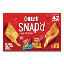 Snap'd Crackers Variety Pack, Cheddar Sour Cream and Onion; Double Cheese, 0.75 oz Bag, 42/Carton